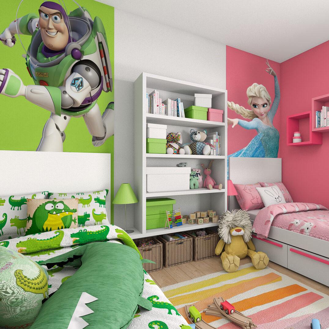 colori pareti cameretta maschio e femmina